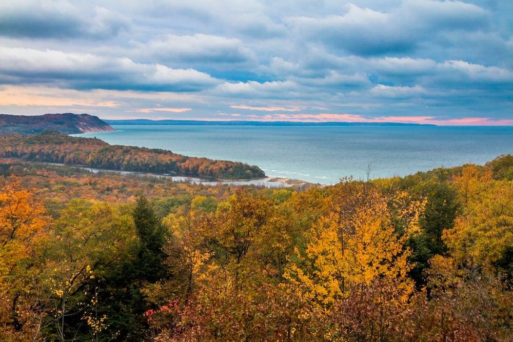 Sleeping Bear Dunes National Lakeshore fall colors Michigan