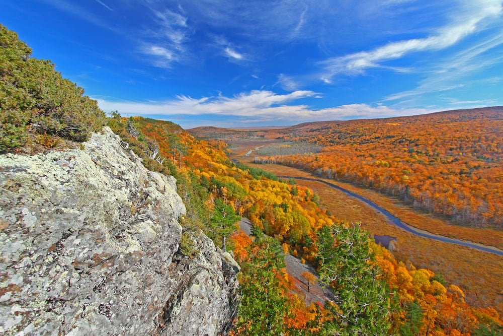 Porcupine Mountains Wilderness State Park Michigan fall colors