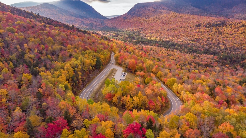 The Kancamagus Highway New Hampshire fall