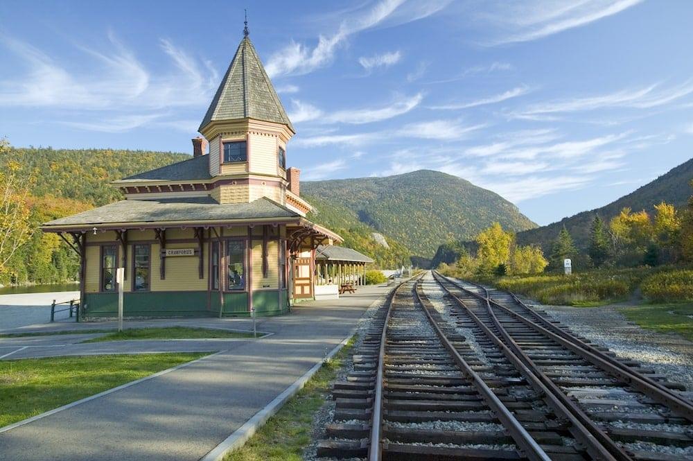 Crawford Train Depot New Hampshire fall