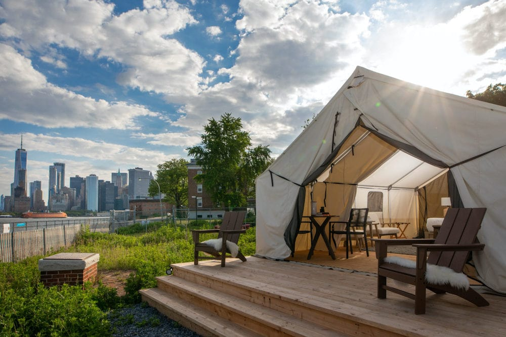 Collective Governors Island nyc glamping